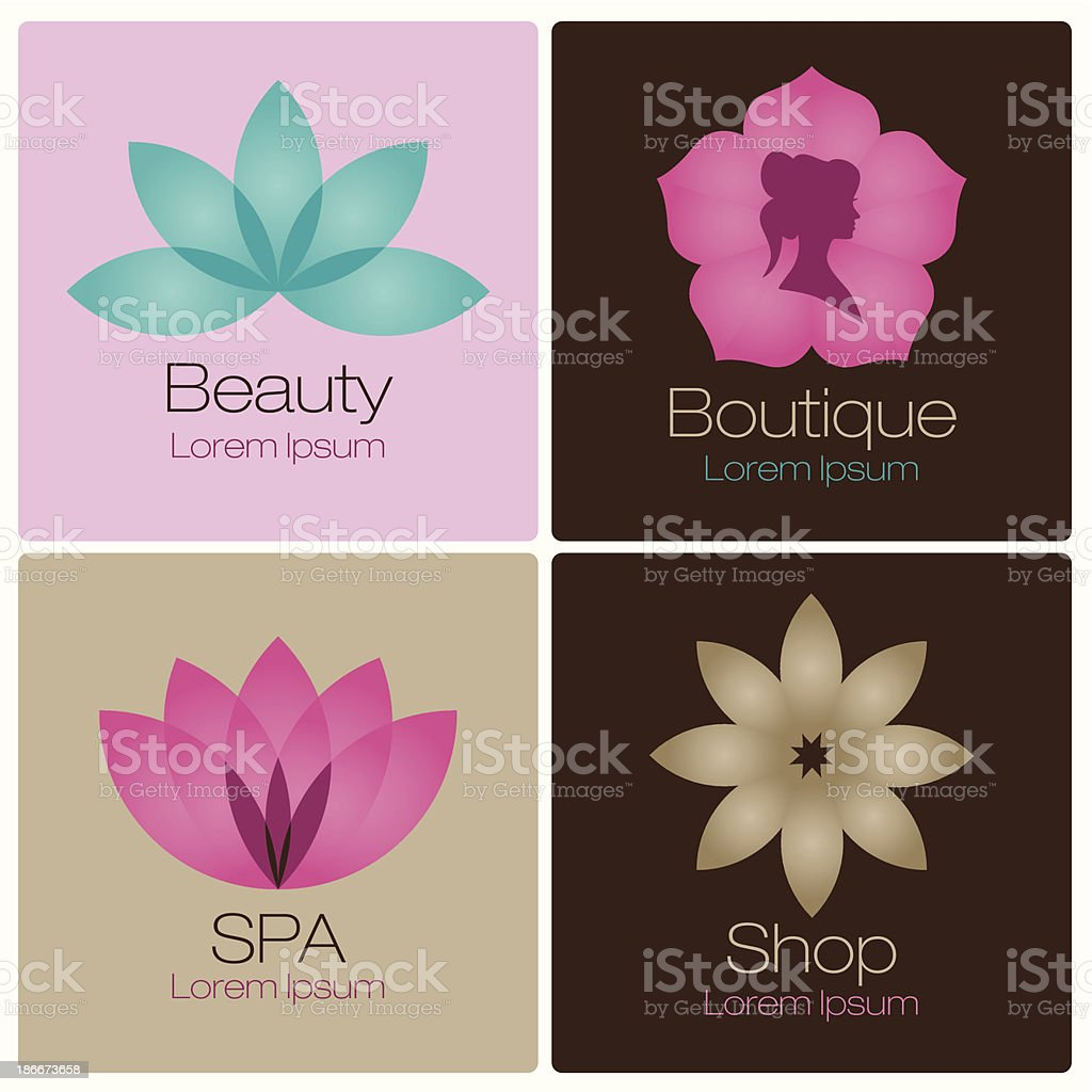flowers illustrations icons vector art illustration