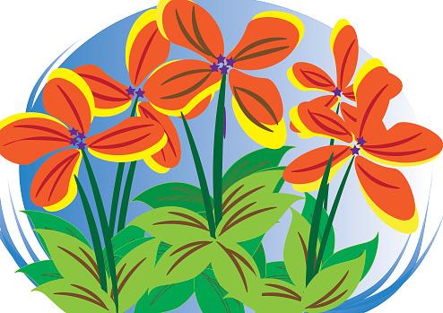 Blumen In Schönen Blau Stock Vektor Art und mehr Bilder von Abstrakt