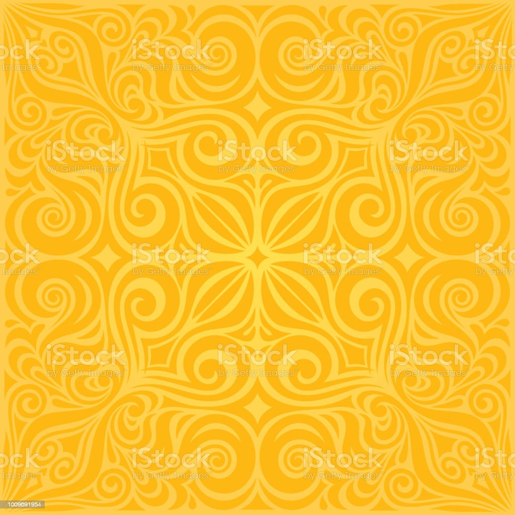 Flowers In Yellow Colorful Floral Wallpaper Background Mandala
