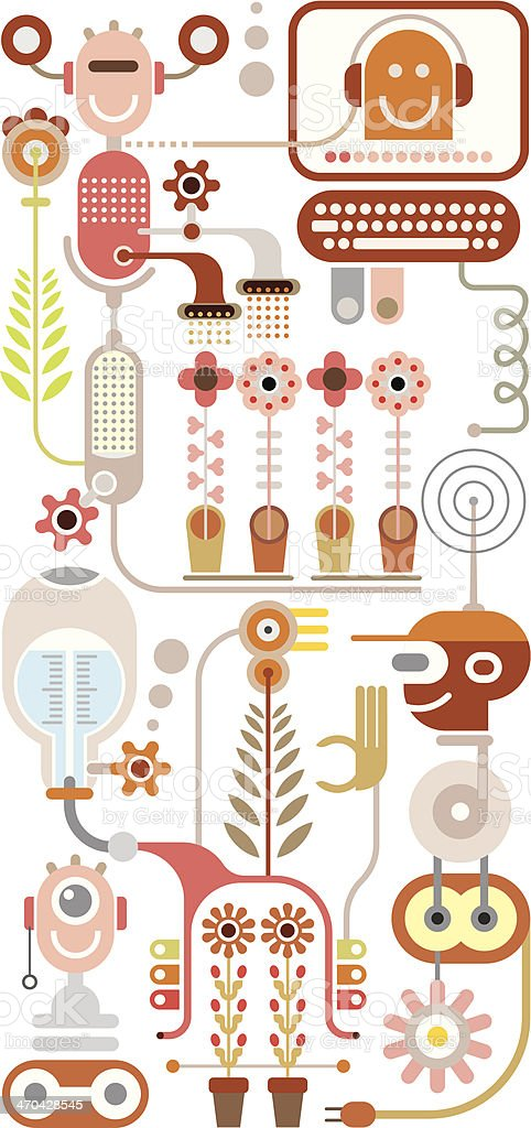 Flowers lab vector illustration royalty-free flowers lab vector illustration stock vector art & more images of abstract