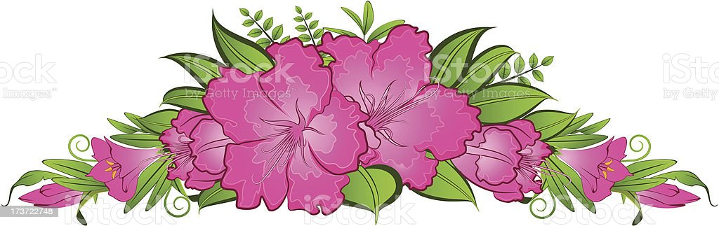 Flowers on background royalty-free flowers on background stock vector art & more images of backdrop