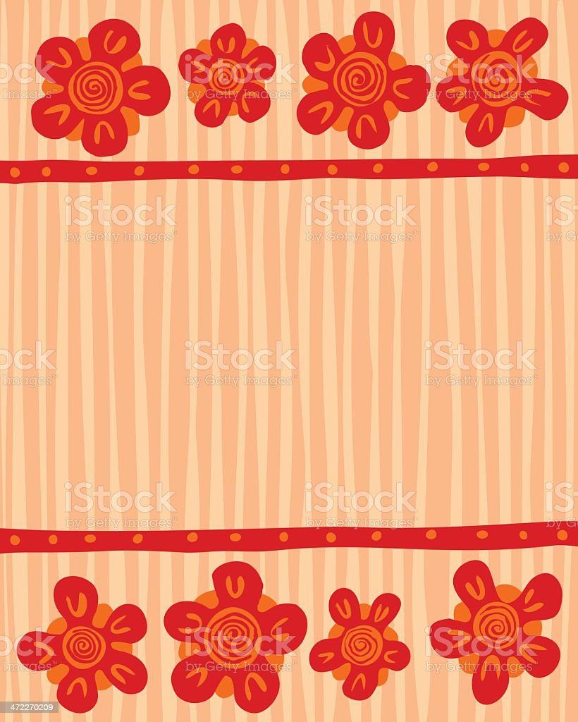 Flowers on Wood Background vector art illustration