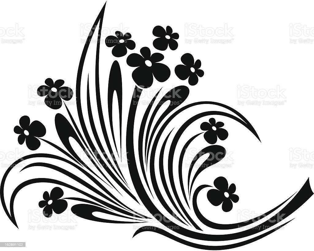 Flowers ornament. Vector illustration. royalty-free stock vector art