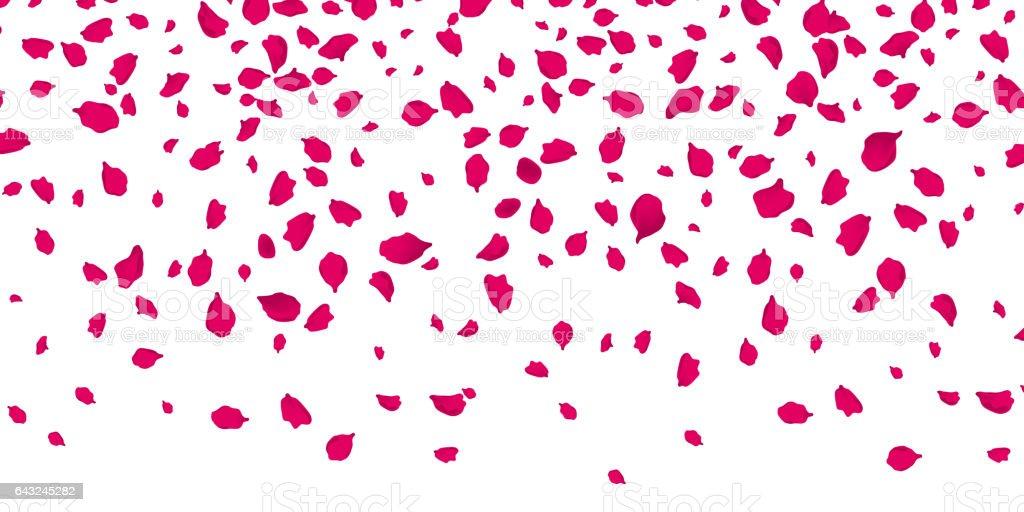 ベクトル透明な背景に花の花びら くるくる回るのベクターアート素材や