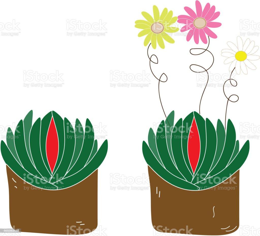 Blumen Topf Pflanzen Illustration Lizenzfreies Blumen Topf Pflanzen  Illustration Stock Vektor Art Und Mehr Bilder Von