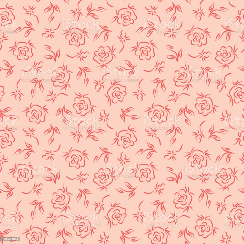 Flowers Roses Pink Vintage Floral Background Floral Seamless
