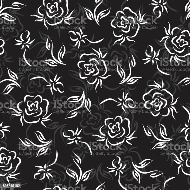 Flowers roses vector floral seamless pattern vintage background with vector id898715192?b=1&k=6&m=898715192&s=612x612&h= 3j0ypqijzr76djyx94r87k9xlhquei4hkciw36 048=