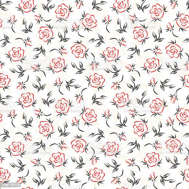 Flowers roses vector floral seamless pattern vintage background with vector id898716178?b=1&k=6&m=898716178&s=612x612&h=obpz vgkgqz56aer dowd37v1wtpxuxzomxo4xljnmi=