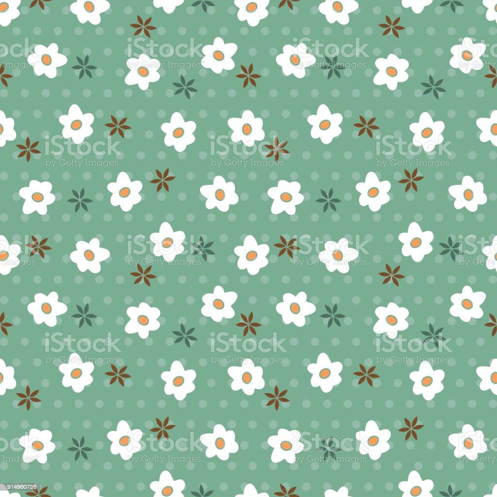 Flowers Seamless Pattern Floral Wallpaper Vintage Floral