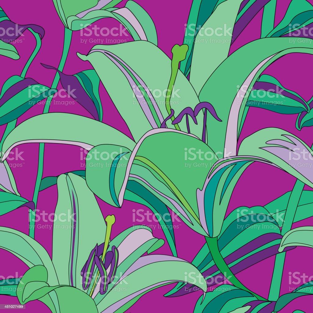 Blumen Nahtlose Tapete Im Hawaiianischen Farbe Stil Lizenzfreies Vektor  Illustration