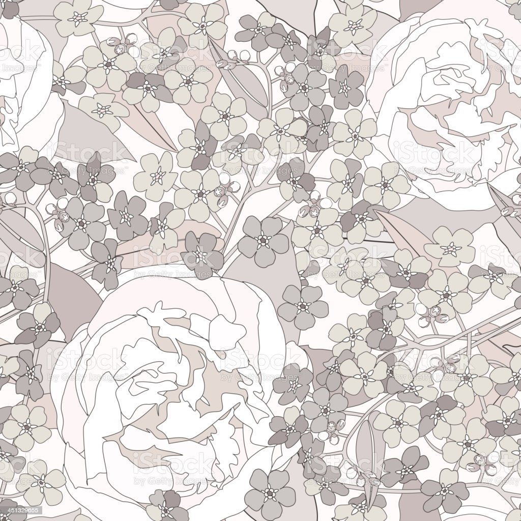 Flowers seamless wallpaper royalty-free flowers seamless wallpaper stock vector art & more images of backgrounds