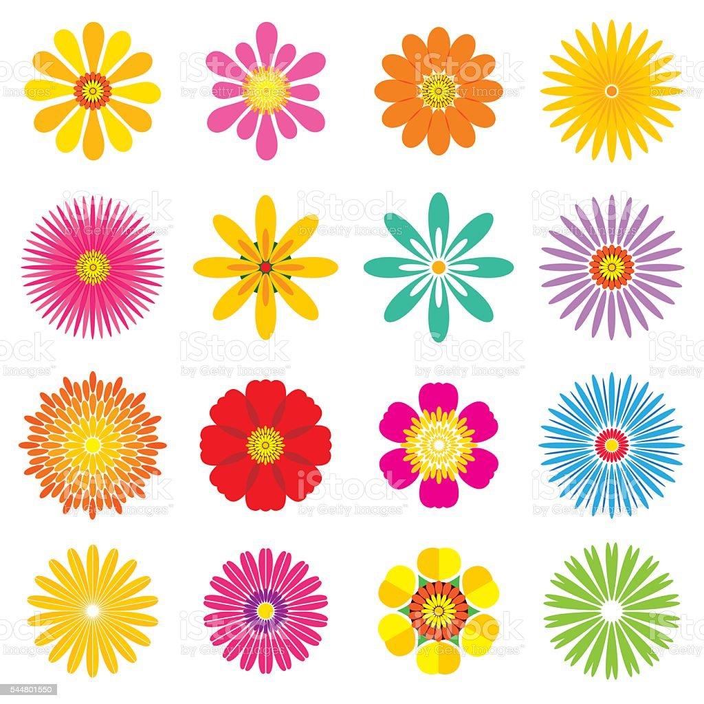 flowers set - Illustration向量藝術插圖