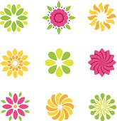 Flowers symbol and icons