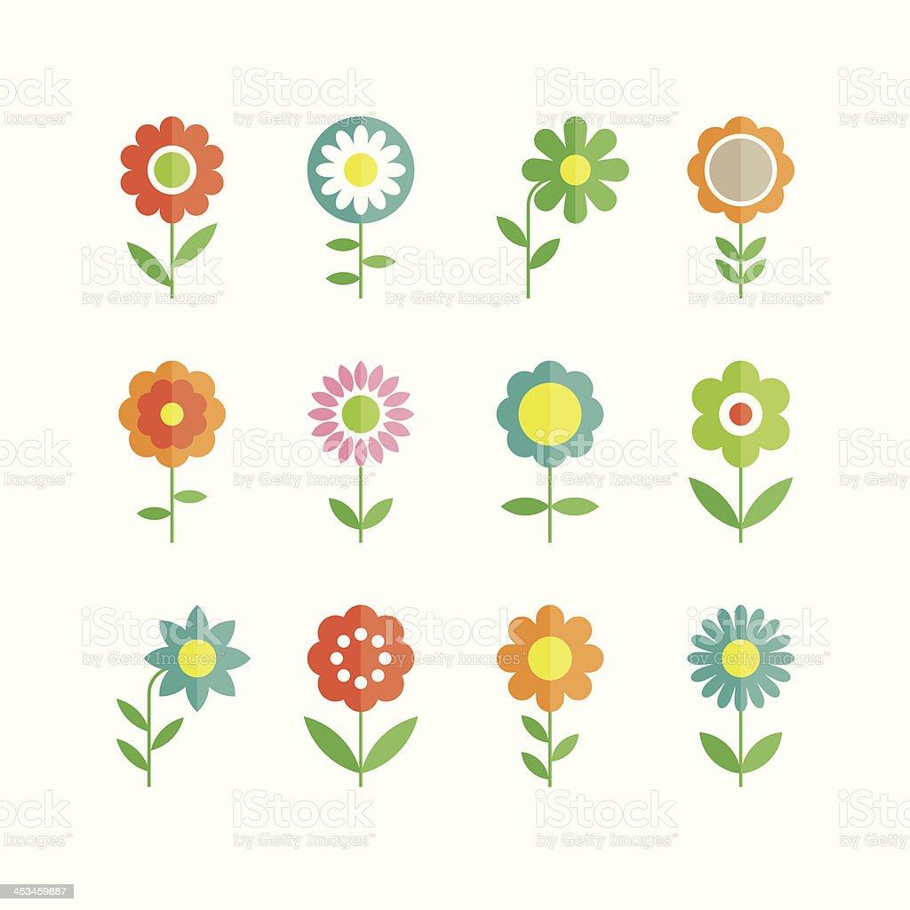 flowers vector design vector art illustration
