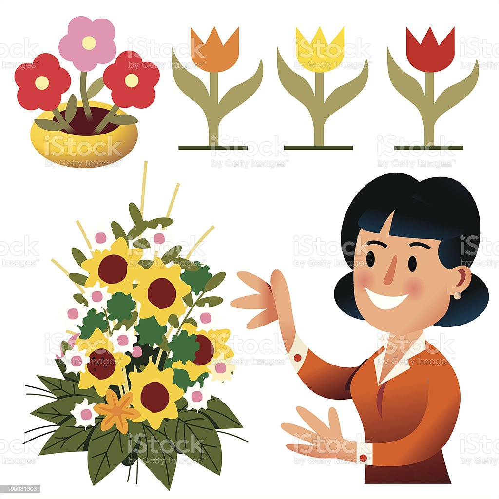 Flowers royalty-free flowers stock vector art & more images of adult