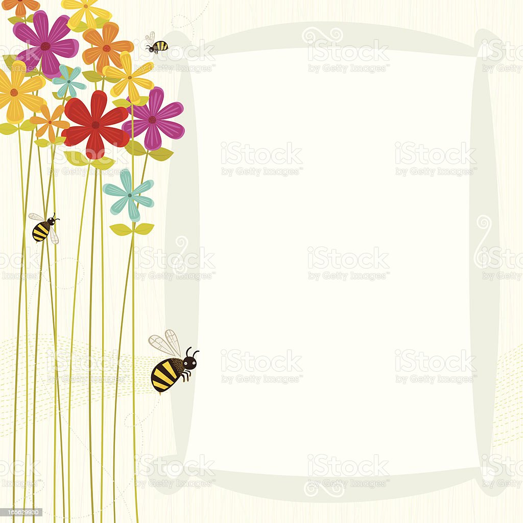 Flowers vector art illustration