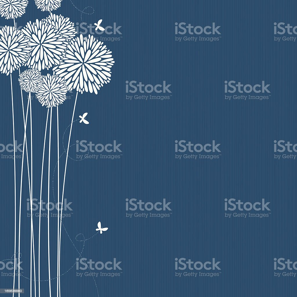 Flowers vector art illustration