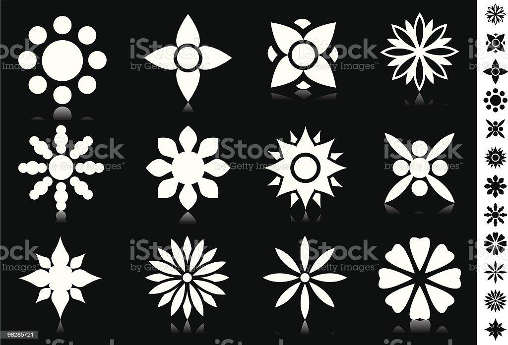 Fiori fiori - immagini vettoriali stock e altre immagini di bianco royalty-free