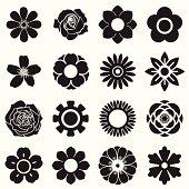 Flowers vector set, EPS10