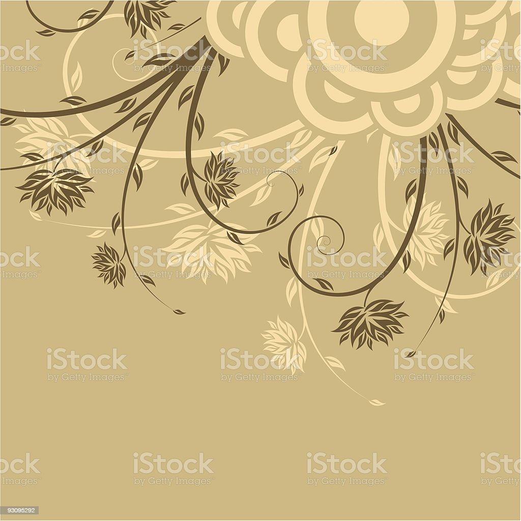 Flowers with circles royalty-free flowers with circles stock vector art & more images of backgrounds