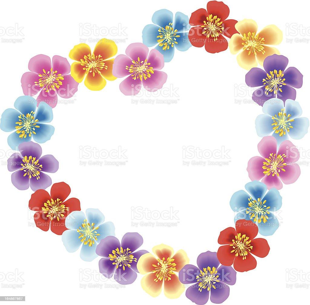 Flowers wreath royalty-free stock vector art