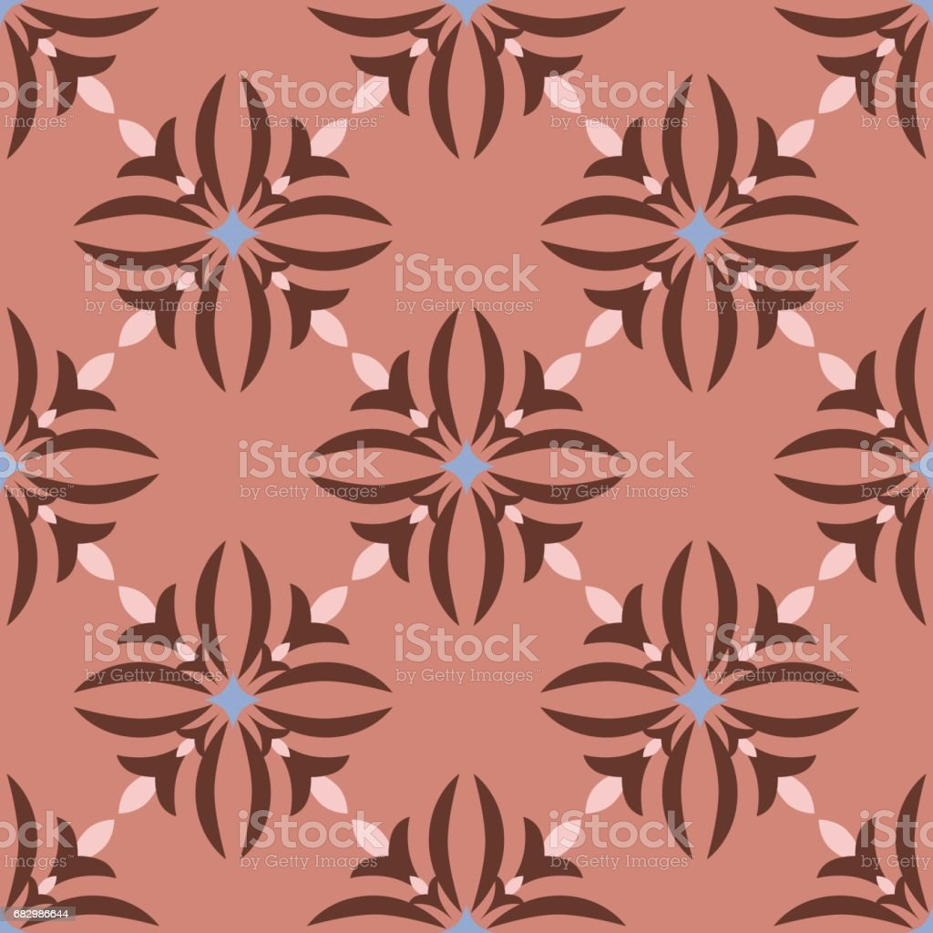 Flowers_Diamond_pattern_Mahogany_Pink royalty-free flowersdiamondpatternmahoganypink stock vector art & more images of decoration