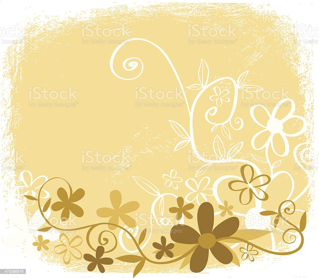 Flowery floral royalty-free stock vector art
