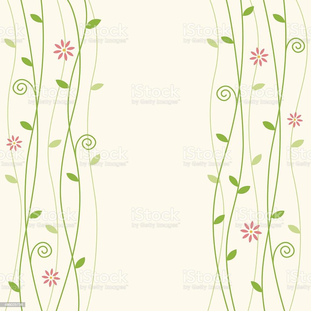 Blumen Hintergrund illustration vine – Vektorgrafik