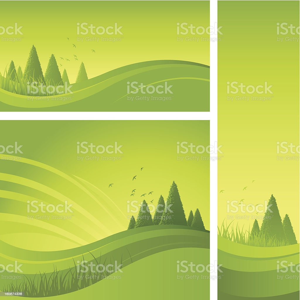 Flowing green backgrounds royalty-free stock vector art