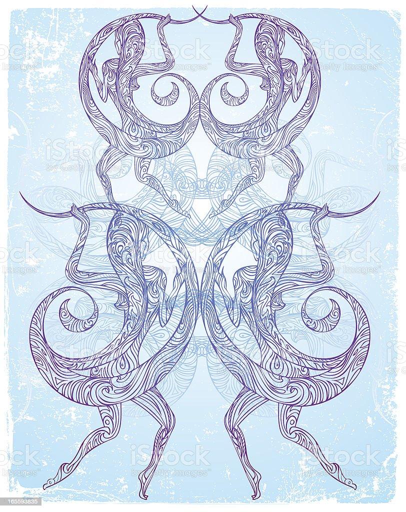 flowing in symmetry royalty-free stock vector art