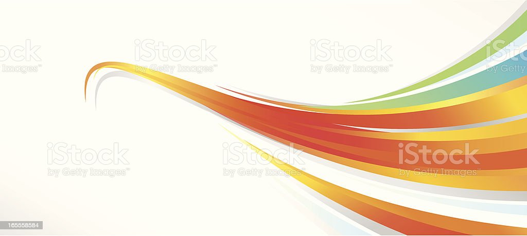 Flowing Lines Background royalty-free stock vector art