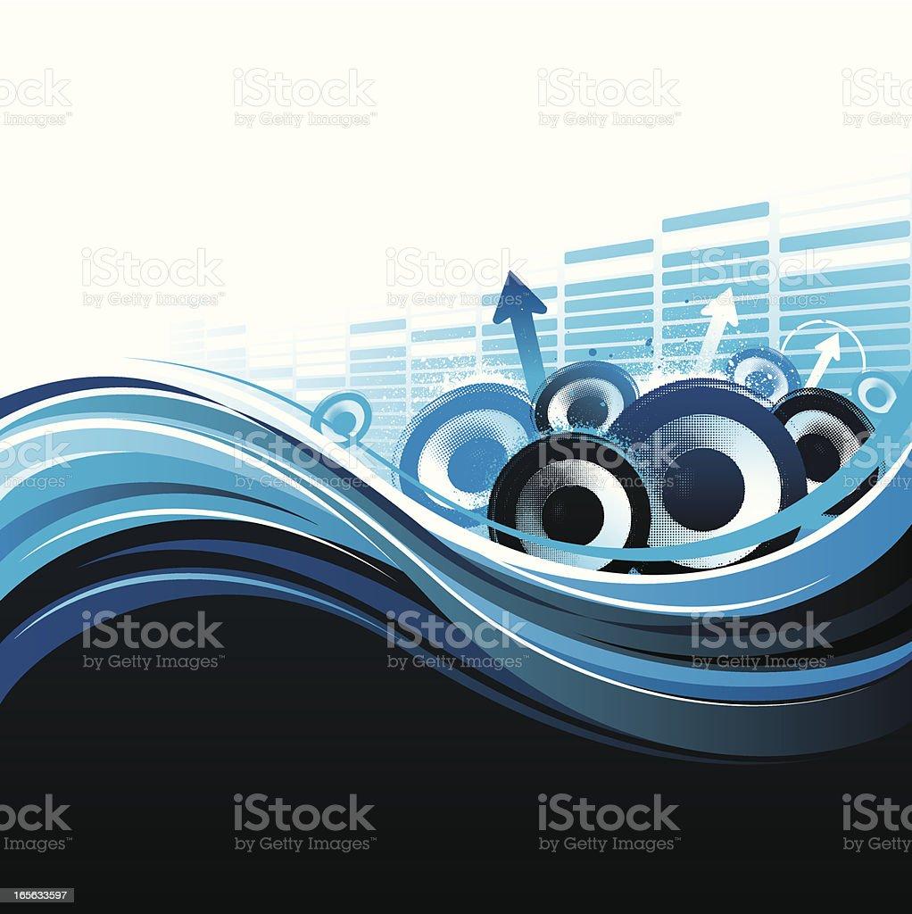 Flowing rhythm royalty-free stock vector art