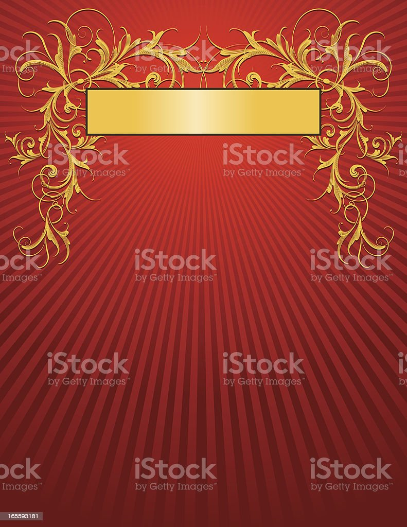Flowing Scroll Frame royalty-free stock vector art