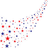 stars flowing fourth of july background