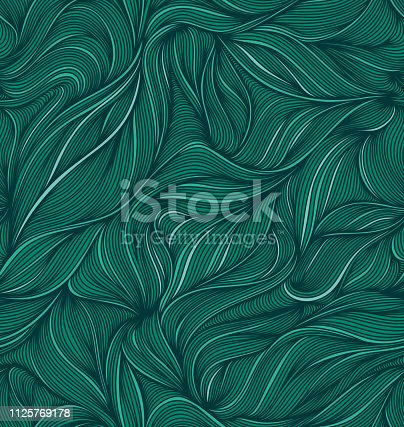 Hand drawn seamless pattern. EPS10 vector illustration, global colors.