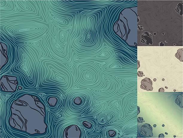 Flowing Water vector art illustration