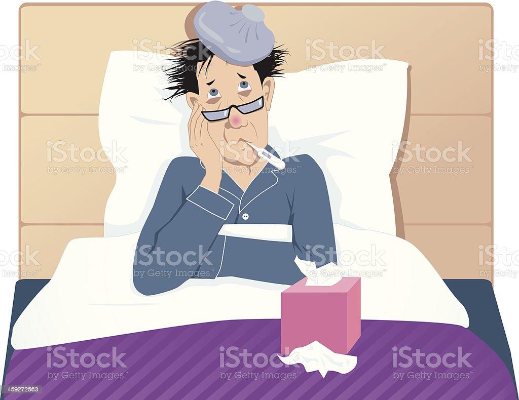 Flu or common cold vector art illustration
