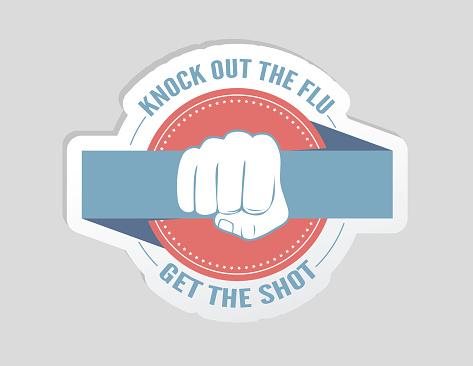 Flu Shot Badge Sticker