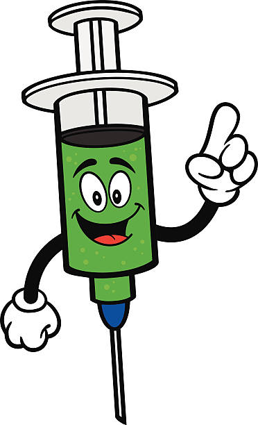 grippe aufnahme sprechen - grippeimpfung stock-grafiken, -clipart, -cartoons und -symbole
