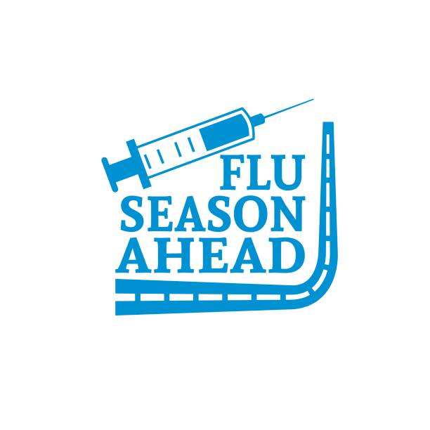 Flu Shot Vaccination Badge or Icon Flu Shot Vaccination Badge or Icon flu shot stock illustrations