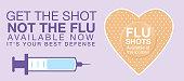 Flu Shot Clinic Website Banner Template. Flat design style colors.