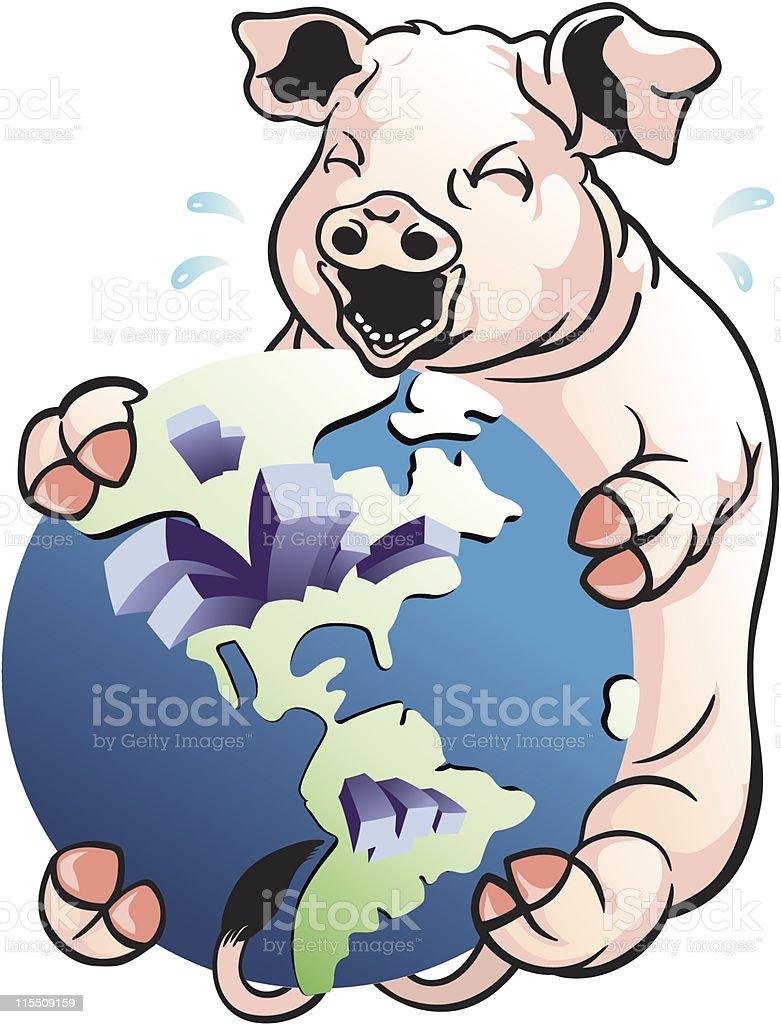 H1N1 Flu Threat royalty-free h1n1 flu threat stock vector art & more images of cartoon