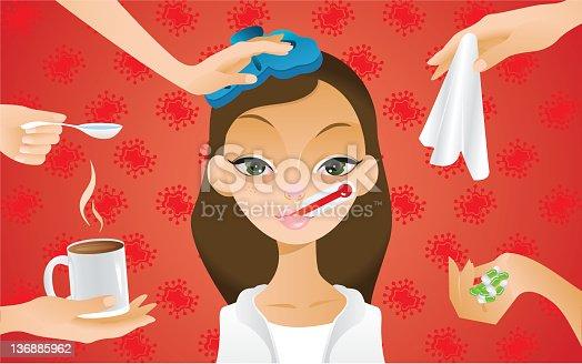 istock Flu treatment 136885962
