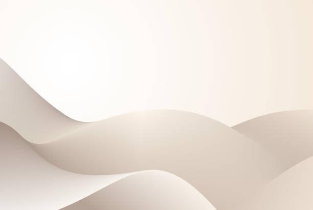 płynny ruch - beżowy stock illustrations
