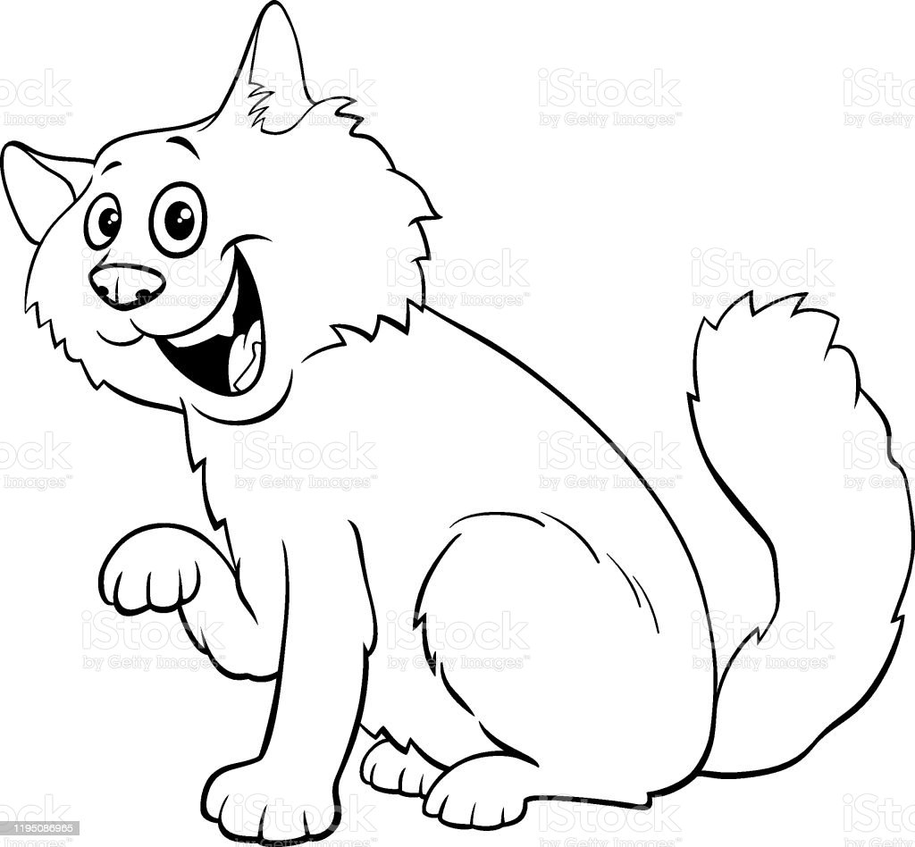 Fluffy Cat Cartoon Character Coloring Book Stock Illustration Download Image Now Istock