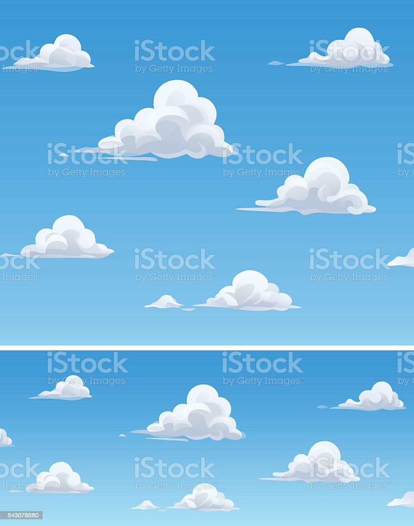 Nuvens almofadadas - ilustração de arte em vetor