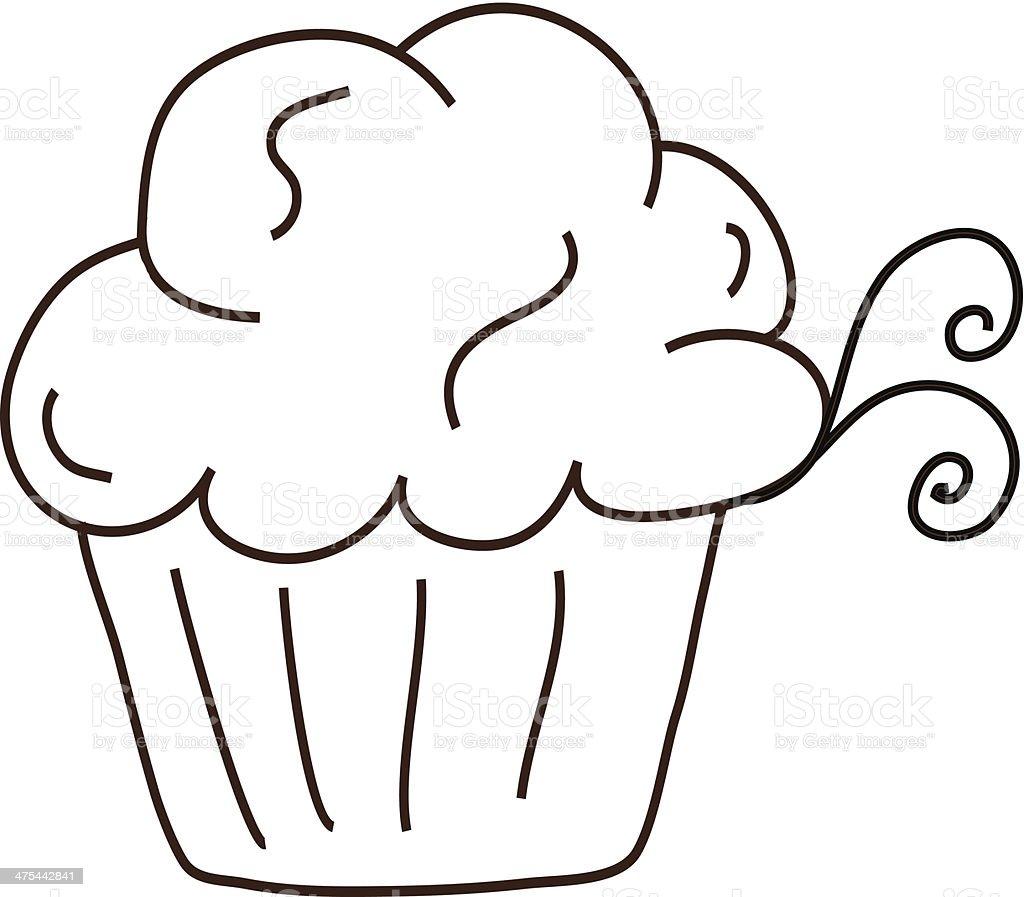 Lanuginoso Dolci Cupcake Simpatici Disegni Con Vortici Immagini