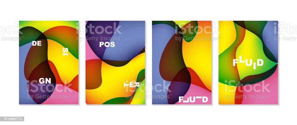 Fluide Abstrait Avec La Forme De Courbe Utilisable Pour Affiche Papier Peint Couverture