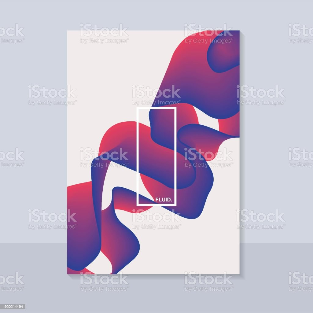 Fluid Abstract Background With Curve Shape Usable For Poster Wallpaper Cover And Flyer