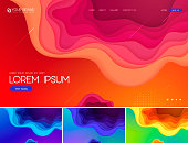 Fluid and liquid abstract background series. Applicable for web background, design element ,wall poster, landing page, wall paper, social media element, and others.